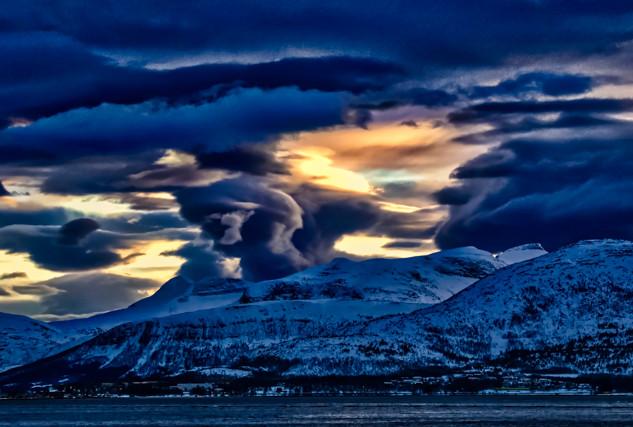 Dramatic Norway Night