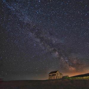 Palouse Washington night sky.