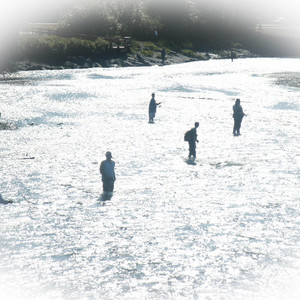 The water near Anchorage Alaska draws lovers of fishing from around the world