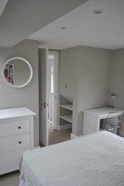 Master bedroom with storage