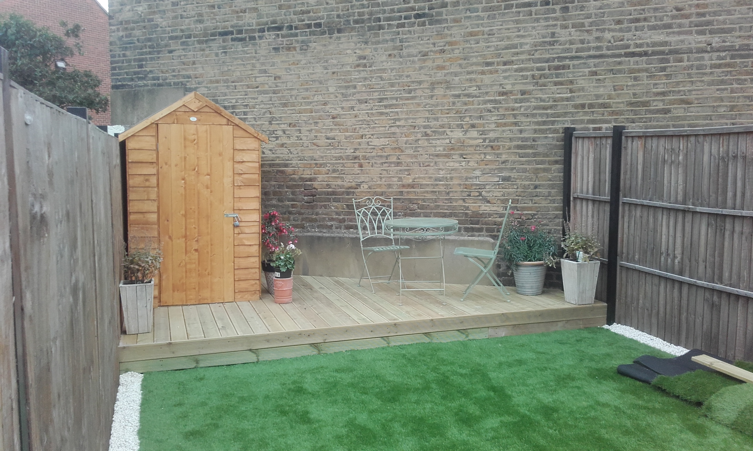 Decking and shed