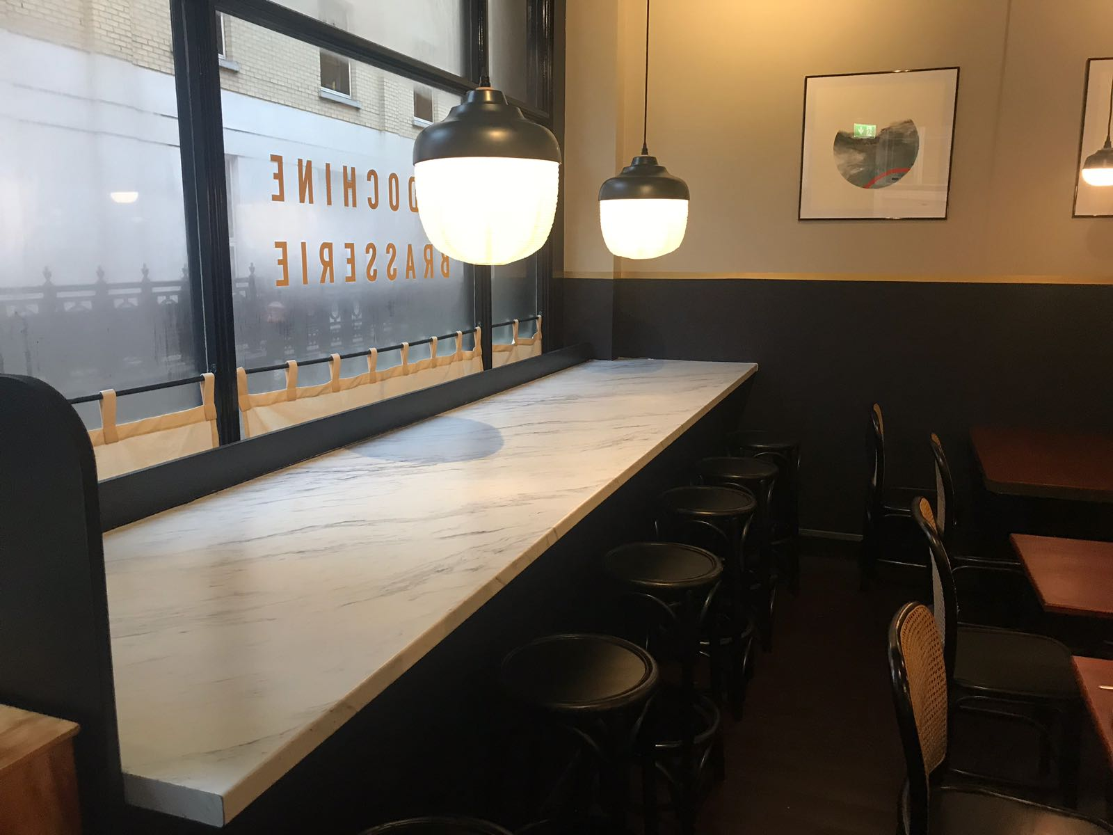 Counters and seating