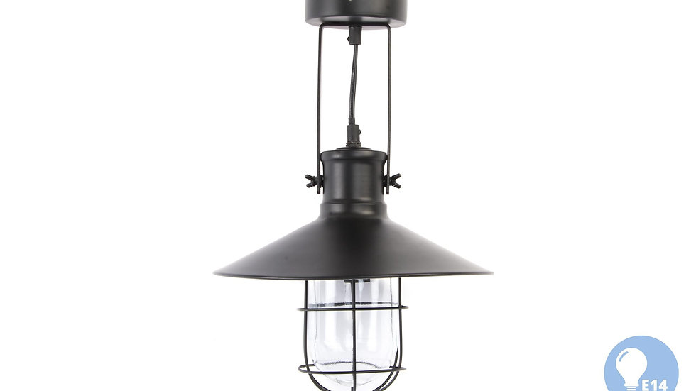 LAMPARA TECHO METAL CRISTAL 30X28X32