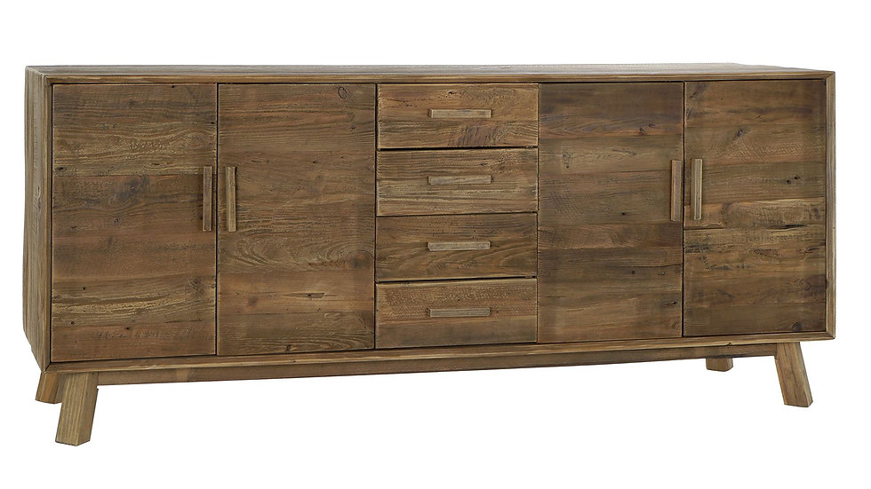 BUFFET PINO 200X48X85 ENVEJECIDO NATURAL
