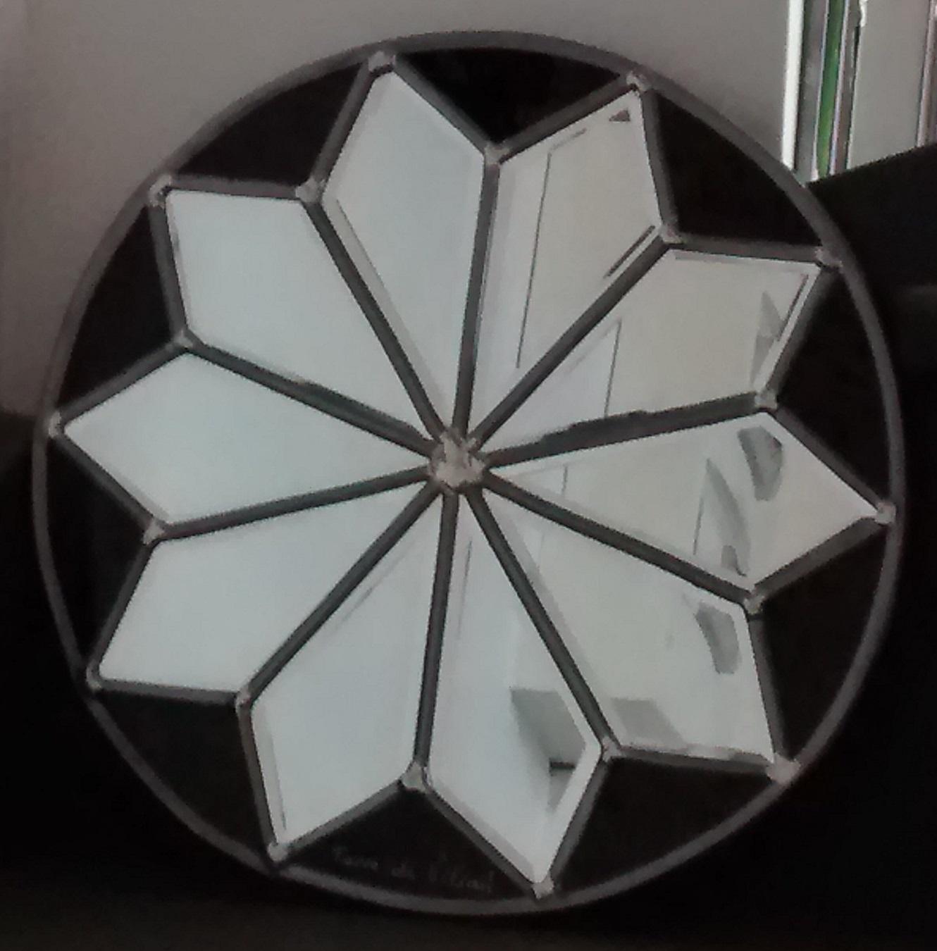 Miroir vitrail Rosace