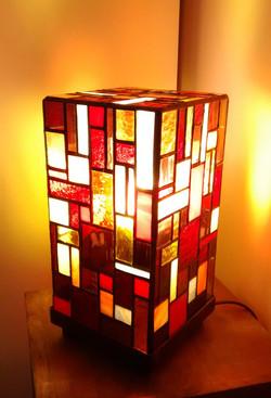 Lampe vitrail Tiffany Mosaïque