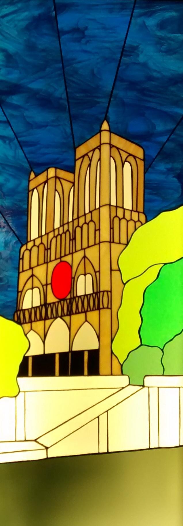Vitrail Tiffany Notre Dame