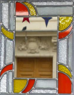 Miroir vitrail Art déco couleur