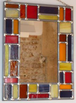Miroir vitrail Tutti Frutti