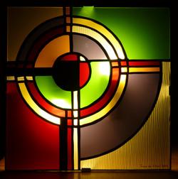Applique vitrail Tiffany Cercles