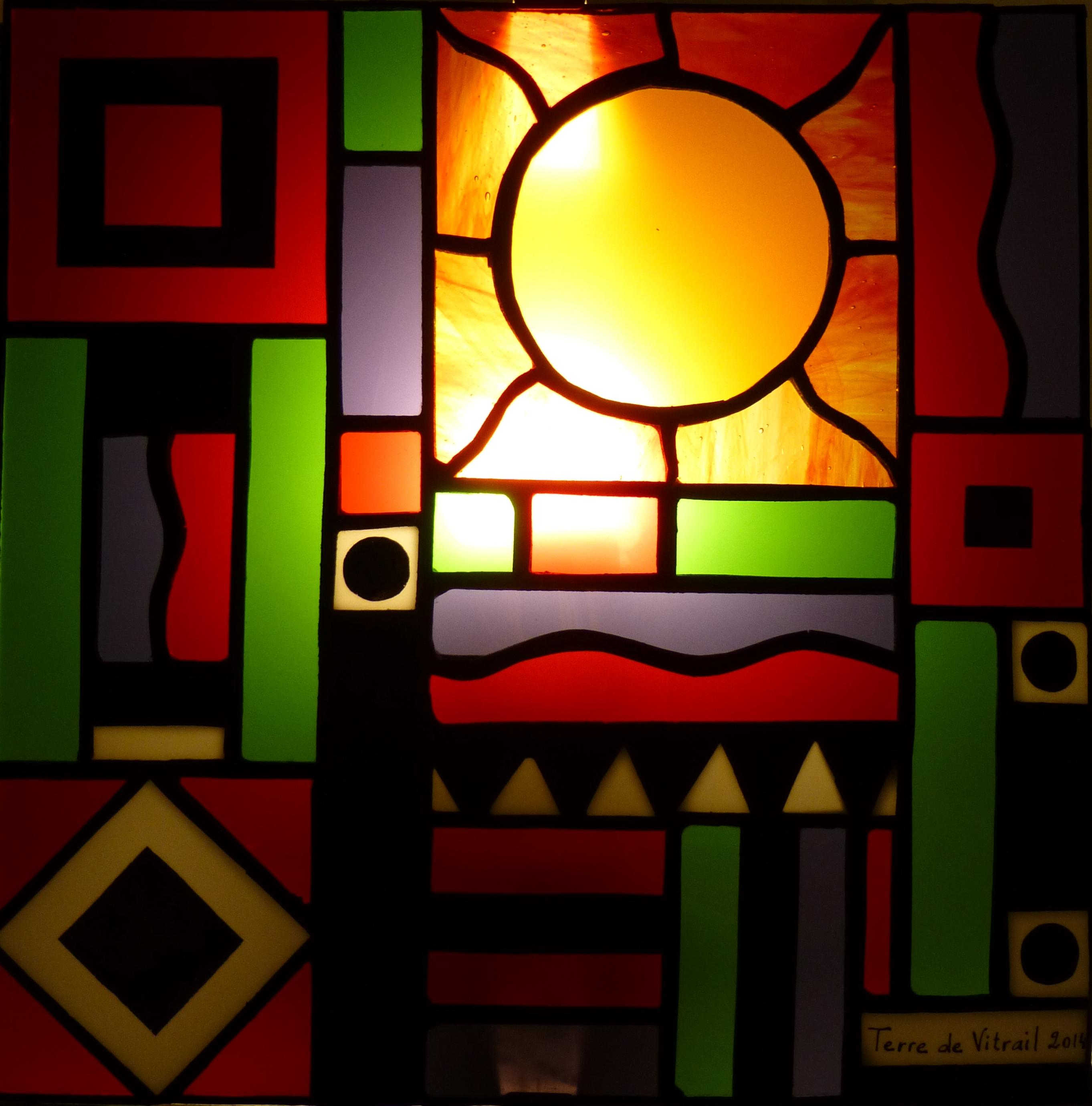 Applique vitrail Géométries