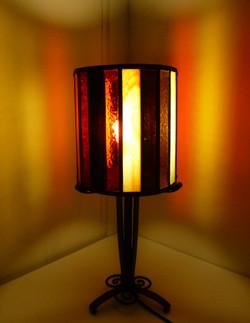 Lampe vitrail Rayures