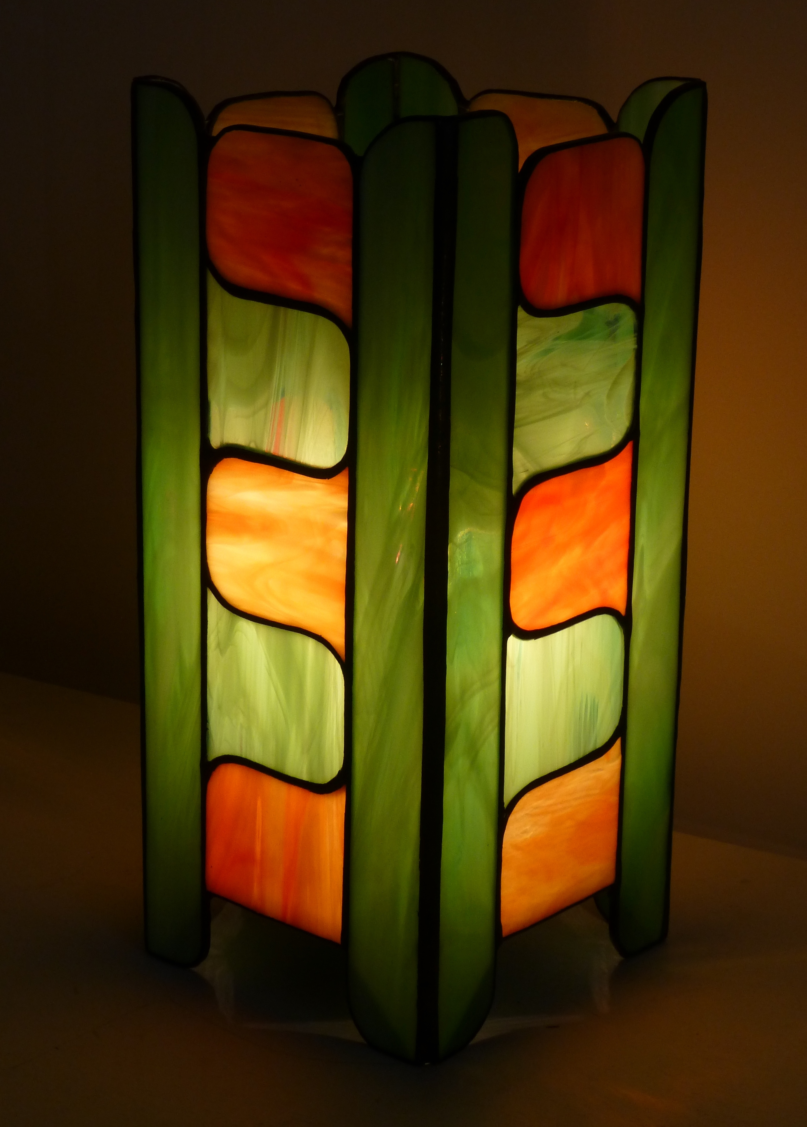 Lampe vitrail Tiffany Seventies