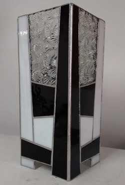 Lampe vitrail Tiffany Black & white