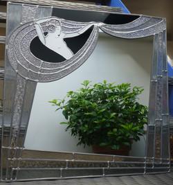 Miroir vitrail Art déco Cabaret