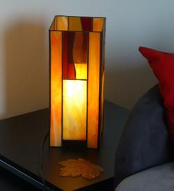 Lampe vitrail Tiffany Flammes