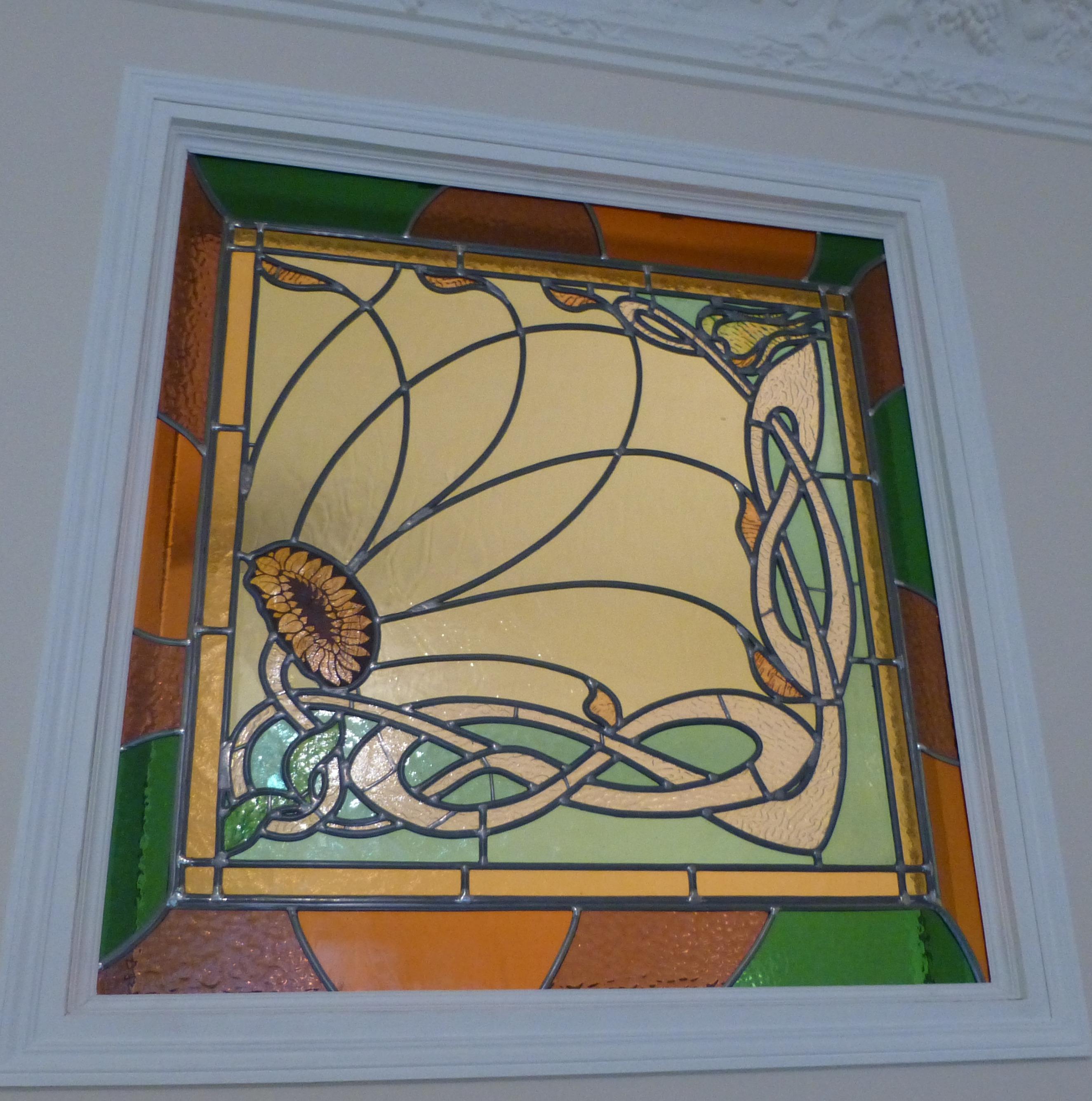 Agrandissement d'un vitrail Paris 18