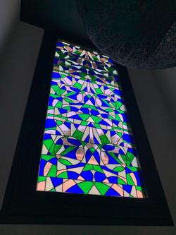 Vitrail Tiffany géométrique