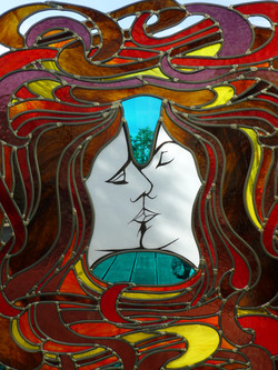 Vitrail Le baiser