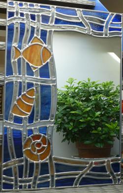 Miroir vitrail Aquatique