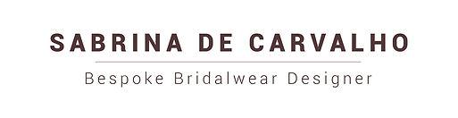 Sabrina de Carvalho Bespoke Bridalwear Designer Logo