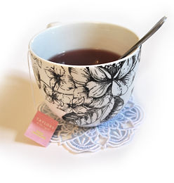 Cup of tea, lace coaster
