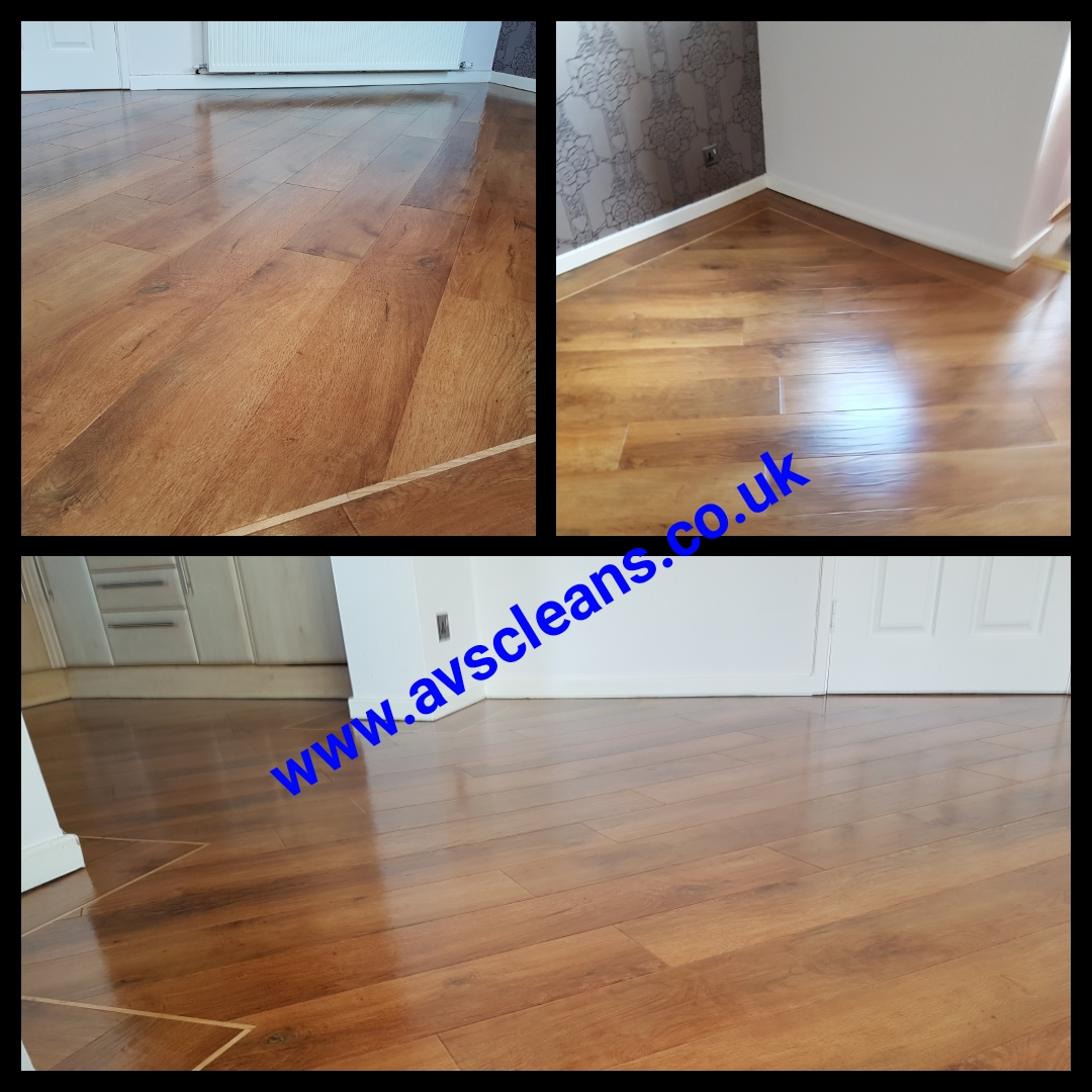 Karndean floor cleaned in Morpeth