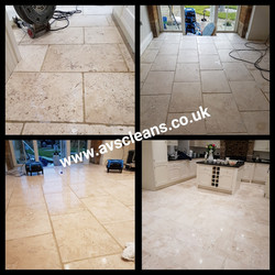 Travertine floor polished Felton