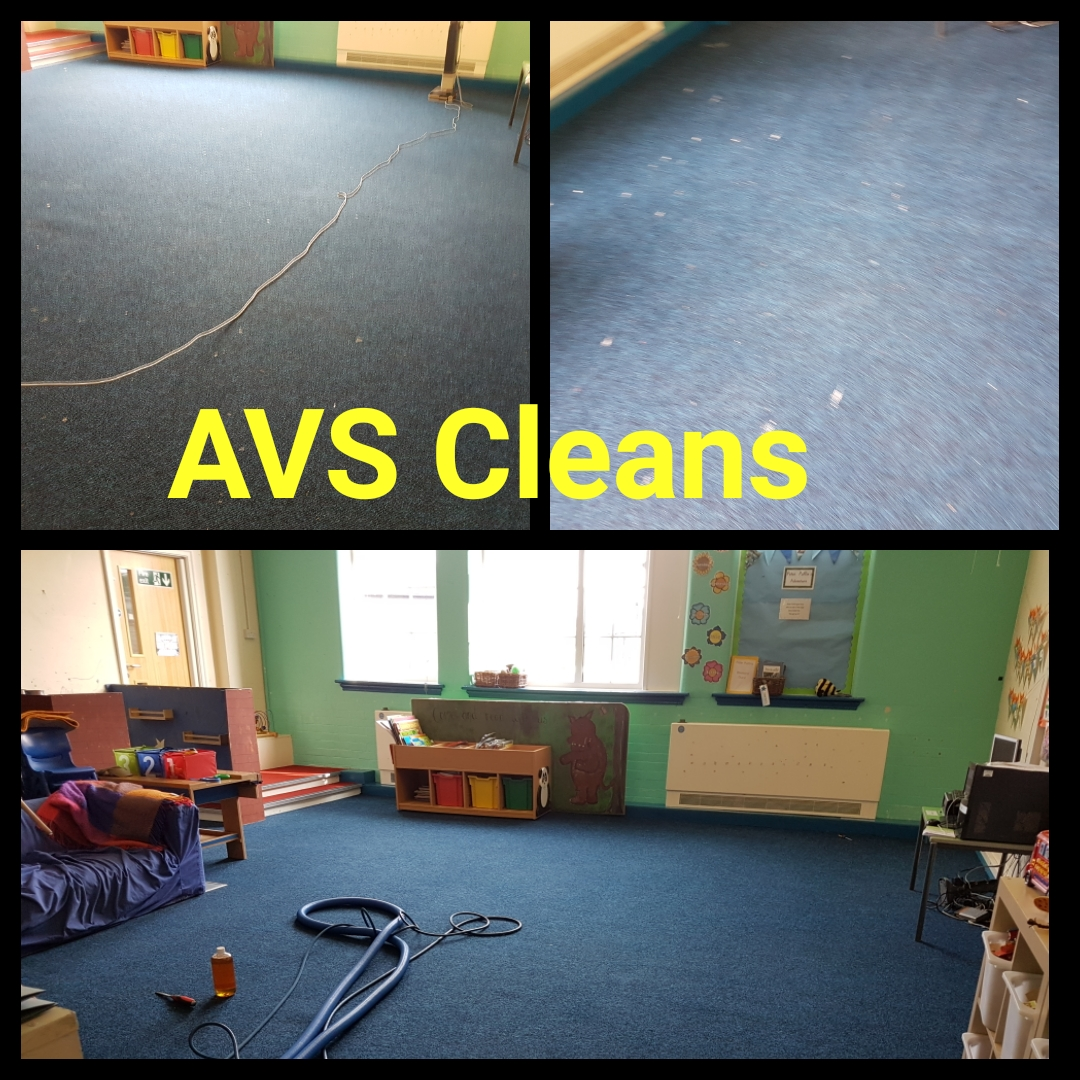 School carpet cleaned Amble
