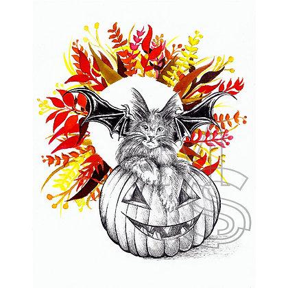 Happy cute halloween PRINT