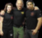 Israel Tamir com instrutores de Krav Maga do Brasil