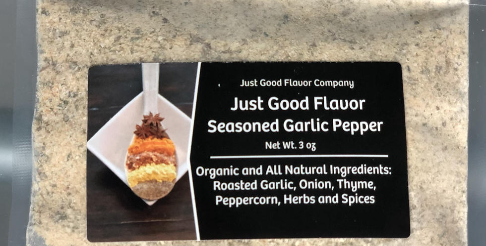Just Good Flavor Seasoned Garlic Pepper