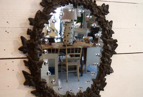 Mirror/Cast Iron frame