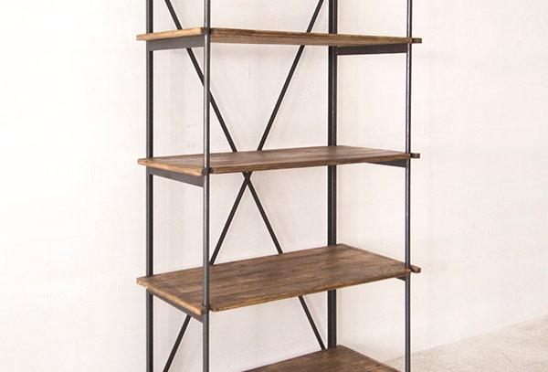 Shelf with iron frame