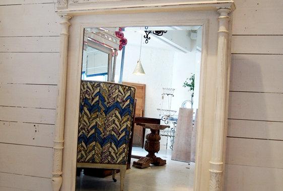 White french mirror