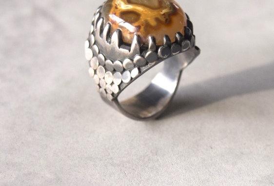 Snake Agate Ring