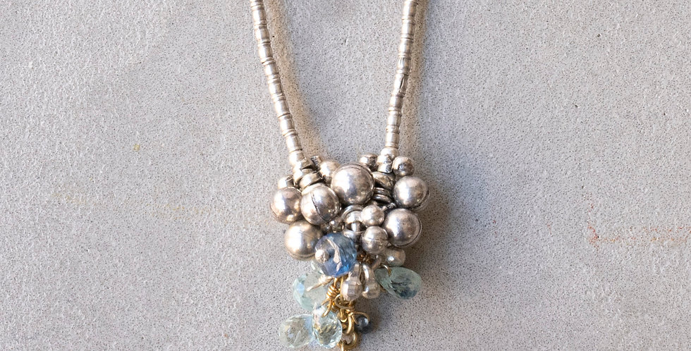 Minakusi London Blue Topaz Necklace