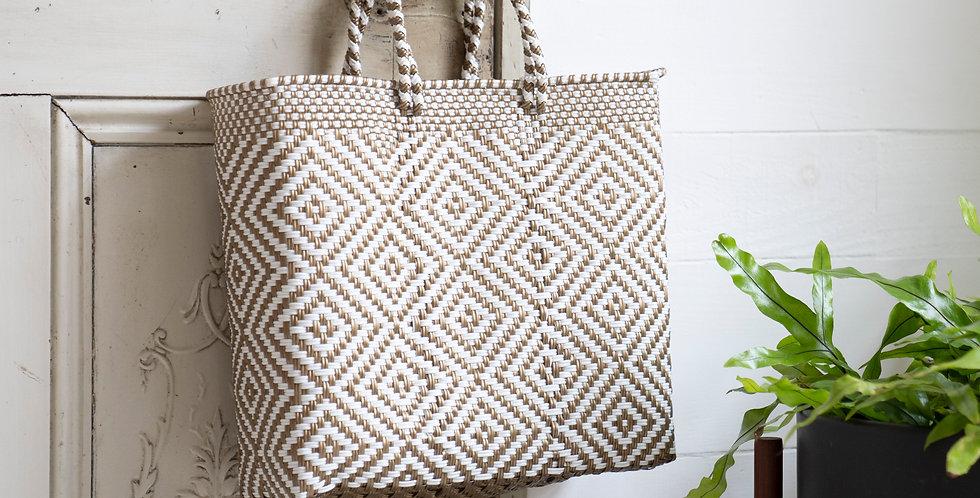 Mercado Bag【Gold&White Sサイズのみ】