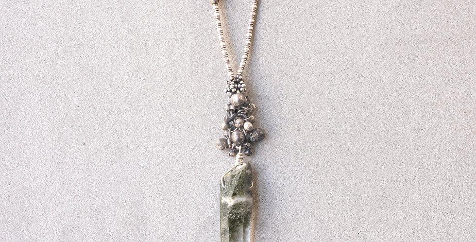 Minakusi Chlorite Crystal Necklace