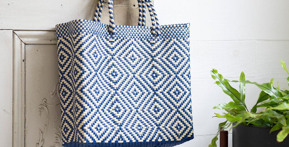Mercado Bag【Blue&White Sサイズのみ】