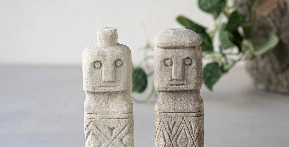 Sumba Stone Statue M&W | 立像 男女【2体1set】
