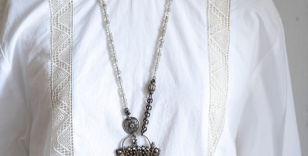 Minakusi Antique Silver Necklace
