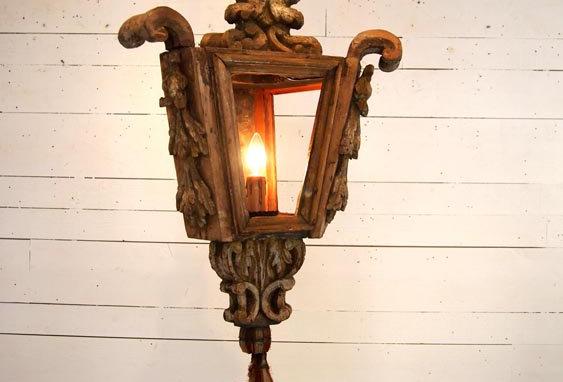 Antique Wood Chandlier