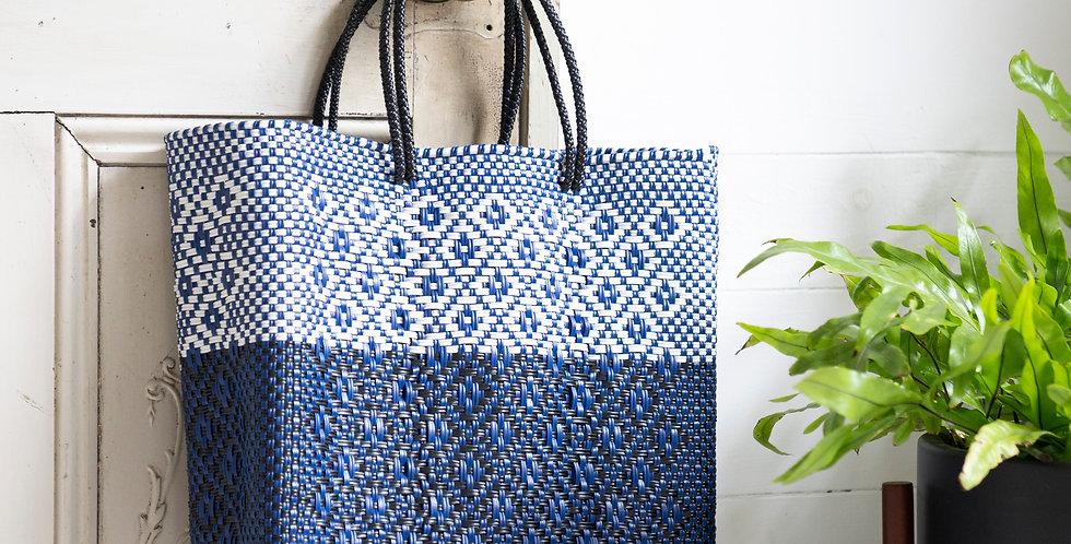 Mercado Bag【White×Blue Mサイズのみ】