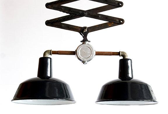 Scissors lamp