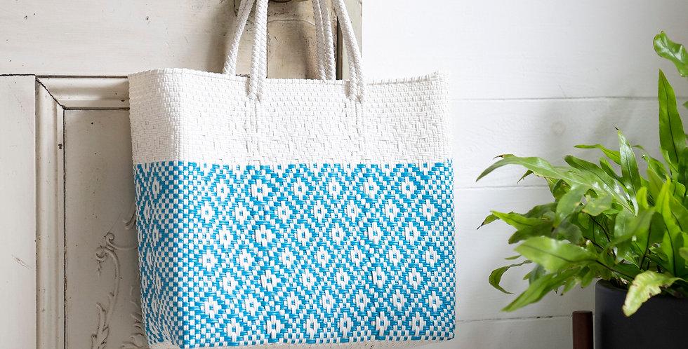 Mercado Bag【White×Light Blue Sサイズのみ】