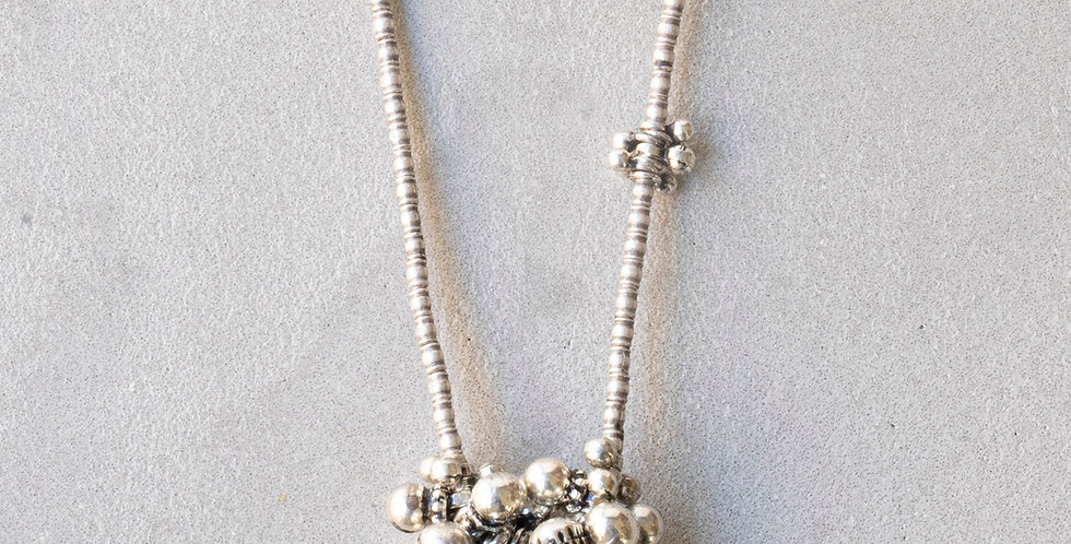 Minakusi  Old silver Necklace