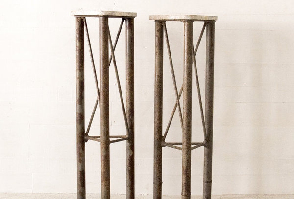 Iron stand with stone top