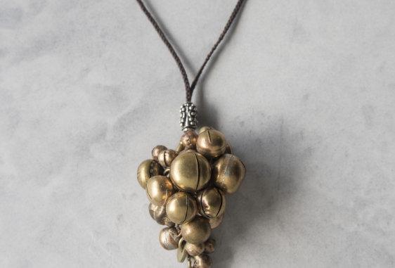 Metal parts necklace