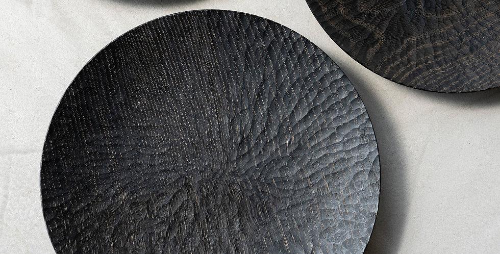 村上圭一 クリ 黒 彫目皿